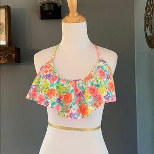 Victoria's Secret Bright Floral Ruffle Bikini Top